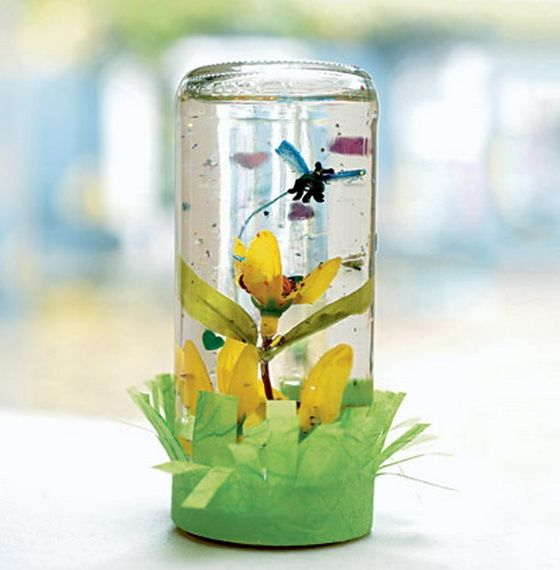 Easy Spring Craft Ideas For Adults In Craft Spring Snow Globe
