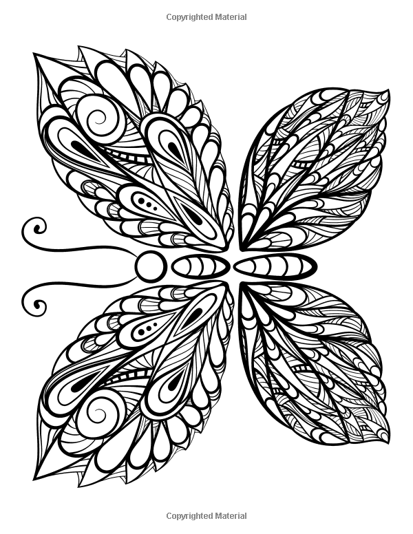 The World's Best Butterfly Coloring Book: A Stress
