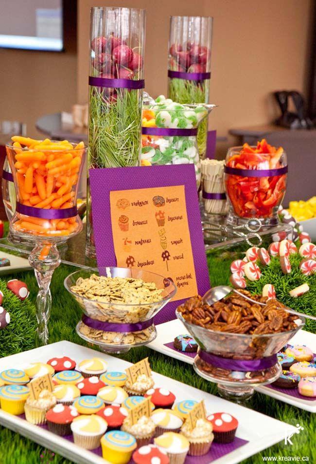 Decoraci n fiesta cumplea os charlie y la f brica de - Decoracion fiesta cumpleanos ...