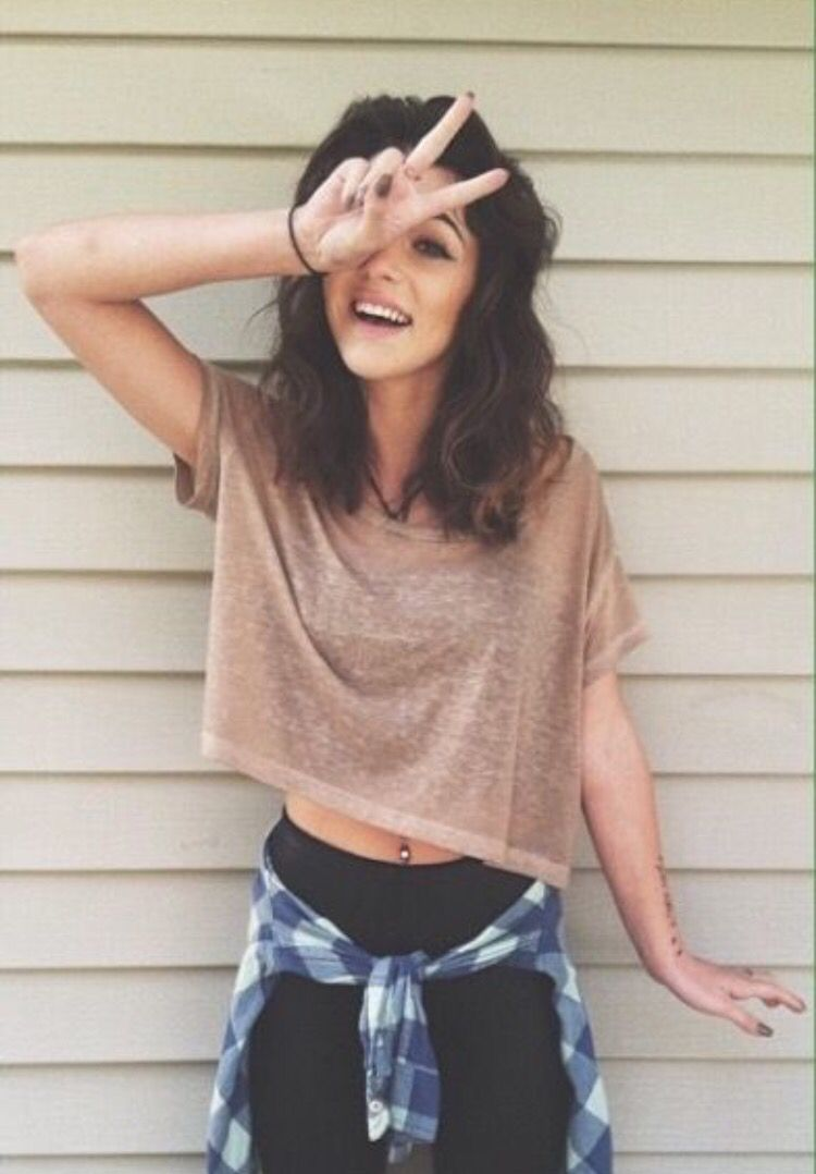Flannel outfits with leggings  Leggings and crop top  Outfits  Pinterest  Clothes Clothing