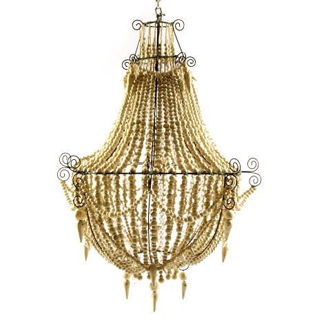 mud chandelier in ivory small $3500