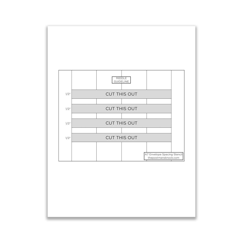 Letter Addressing Stencil.Printable A7 Envelope Stencil Envelope Lettering Diy