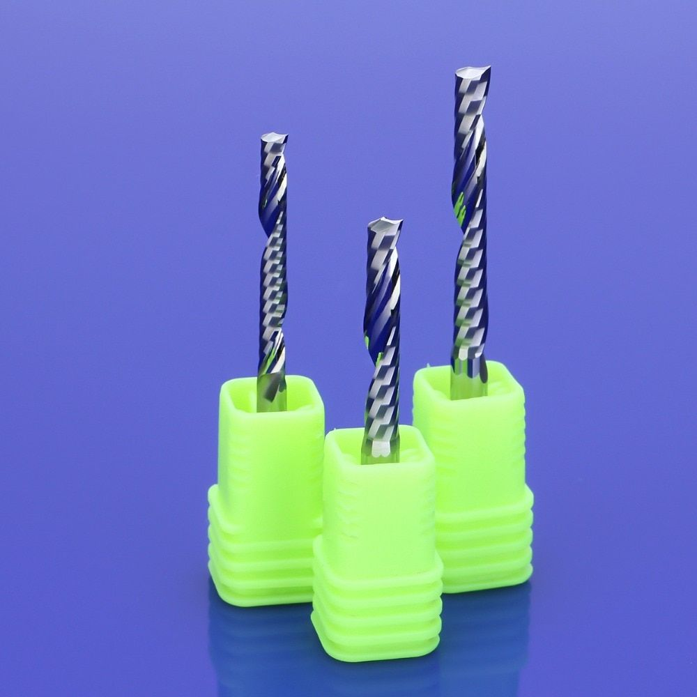 Single Flute End Mill Solid Carbide Milling Machine Cutter Bit Wood Pvc  Acrylic