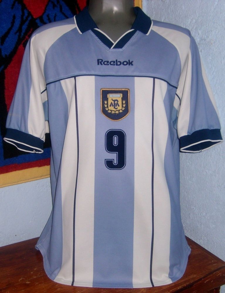 b42e89e9e REEBOK ARGENTINA 2000 HOME BATISTUTA ORIGINAL SOCCER JERSEY SHIRT (eBay  Link)