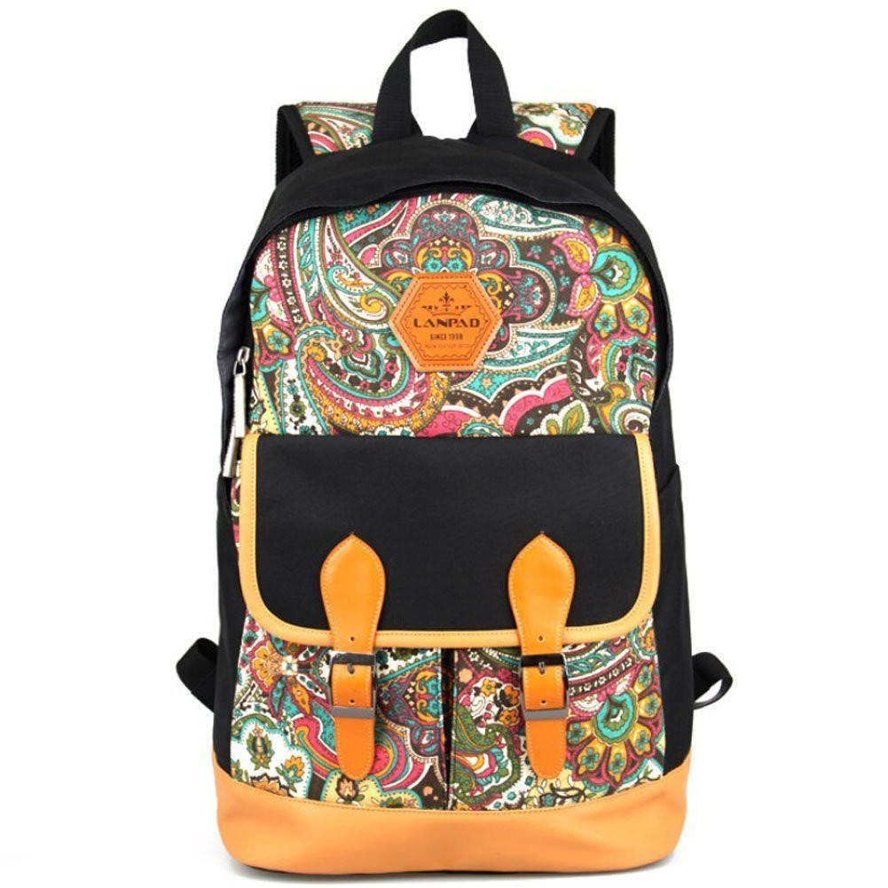 YONG-SHOP 2019 School Backpack Vintage Casual Canvas Backpack Travel Hiking Rucksack for Men Women Daypack