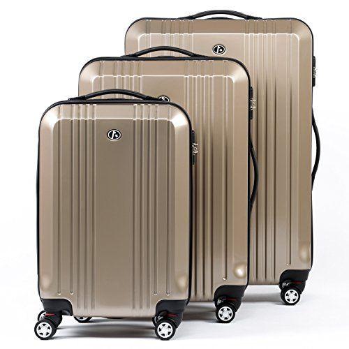 FERGÉ Trolley set – 3 suitcases hard-top cases CANNES – three pcs ...