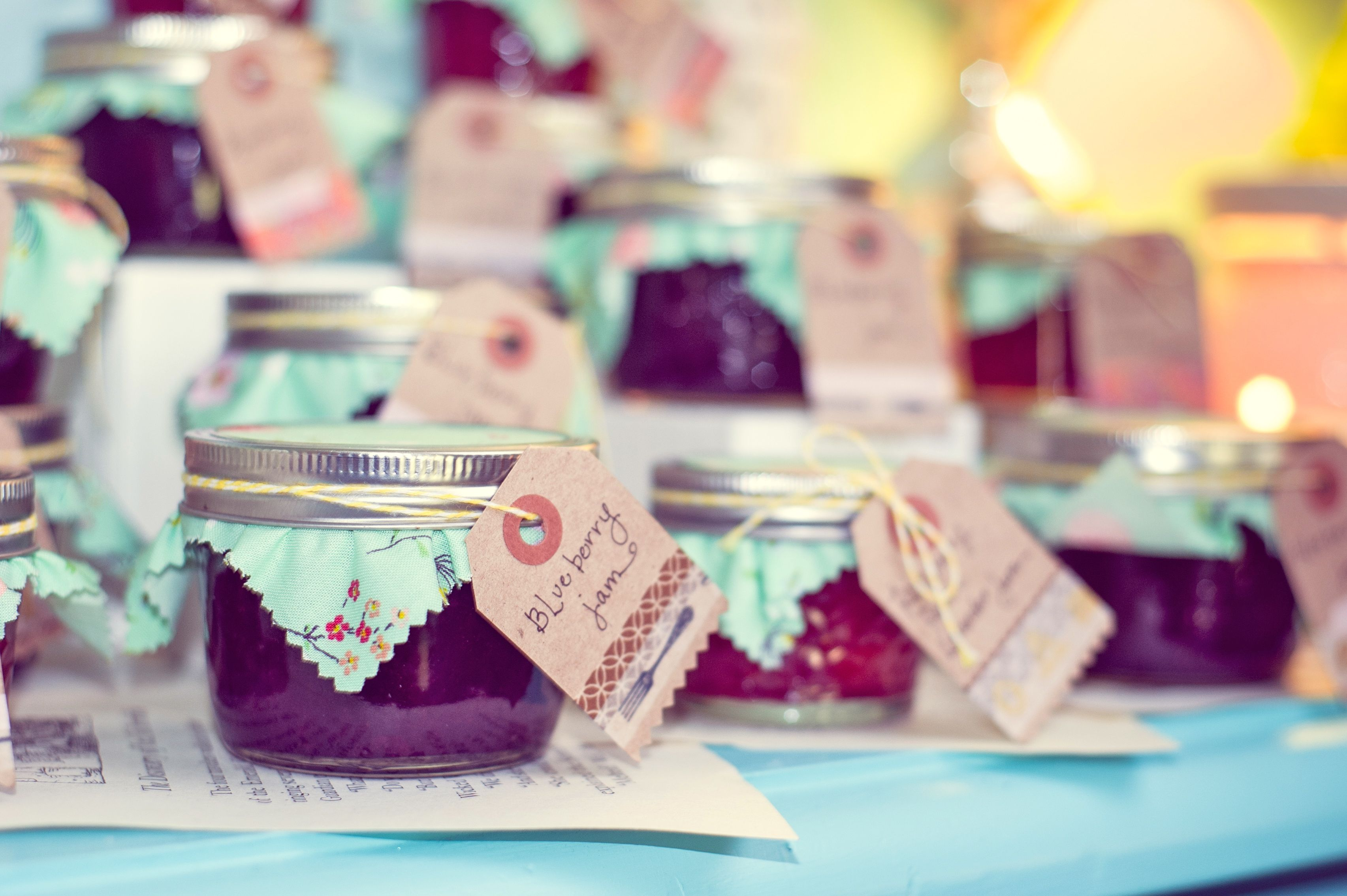 vintage book theme baby shower homemade jam favors