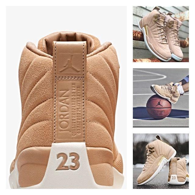 89b47cbe6b1431 Women s Jordan Retro 12 - Vanchett Tan