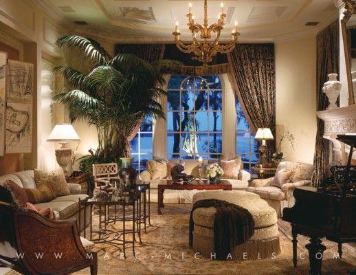 Luxury Interior Design Firm In Winter Park Fl Marc Michaels Inc Mediterranean Living Rooms Luxury Mediterranean Homes Luxury Interior Design