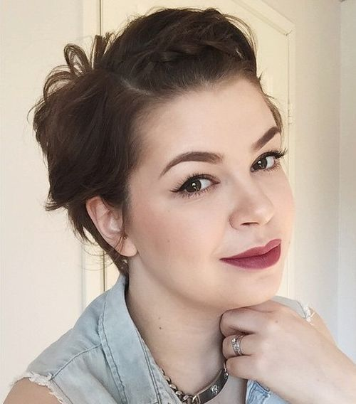 Super Cute Looks With Short Hairstyles For Round Faces Short - Curly short hair style for round face