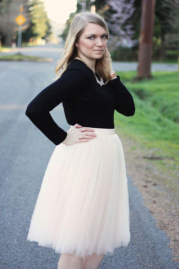 I love a good tulle skirt! I makes me feel so girly
