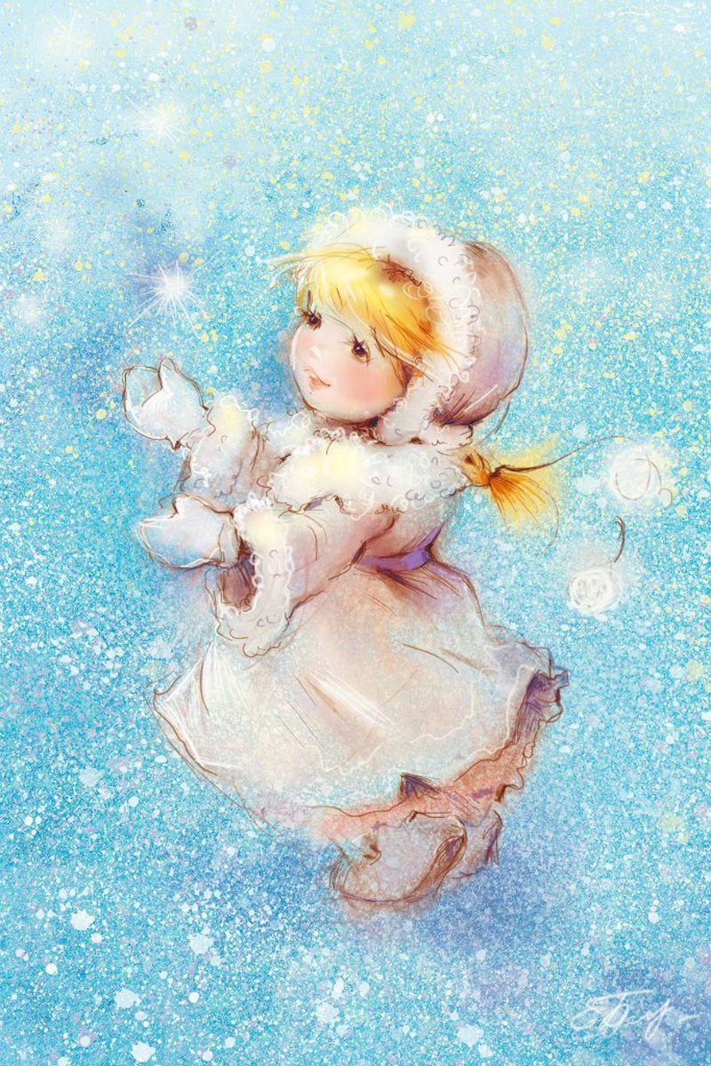 Смешные, картинки девочки снежинки
