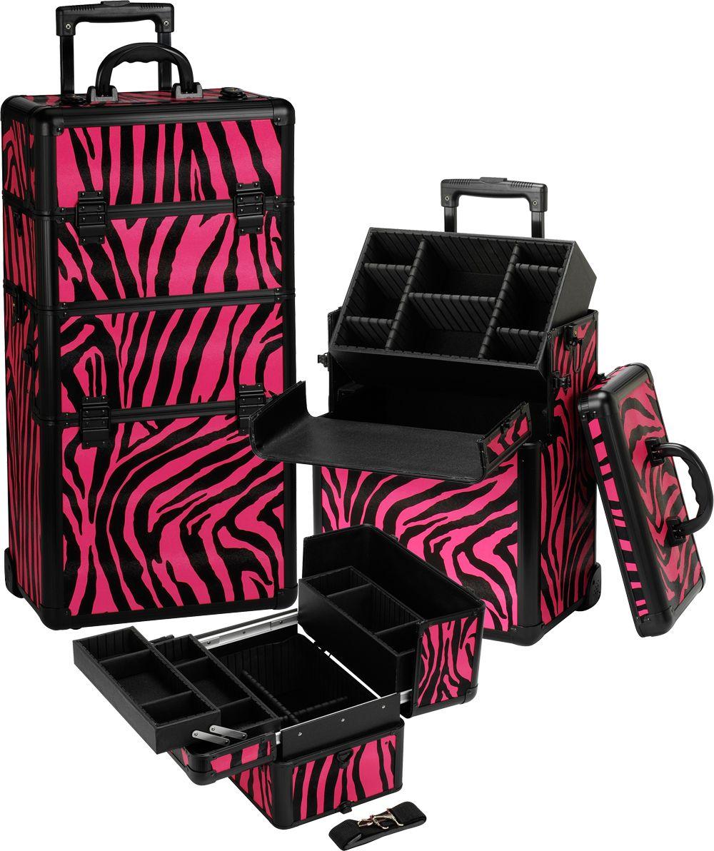 Pink Zebra Rolling Makeup Case Rolling makeup case