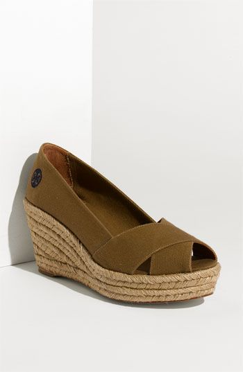 f1f94d0c0927 Tory Burch Criss Cross Espadrille Wedge available at Nordstrom - Love the low  heel.