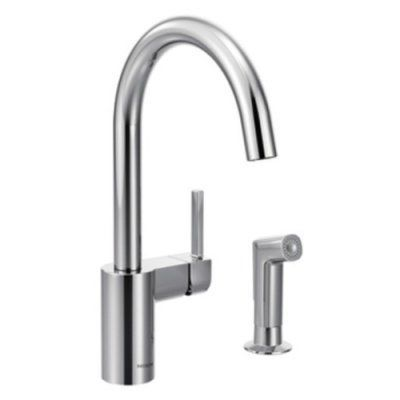 Moen Align Chrome One Handle High Arc 9 63 In Kitchen Faucet