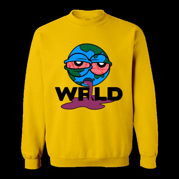 Sick Wrld Crewneck Hoodie Yellow Juicewrld Yellow Hoodie Hoodies Sweatshirts