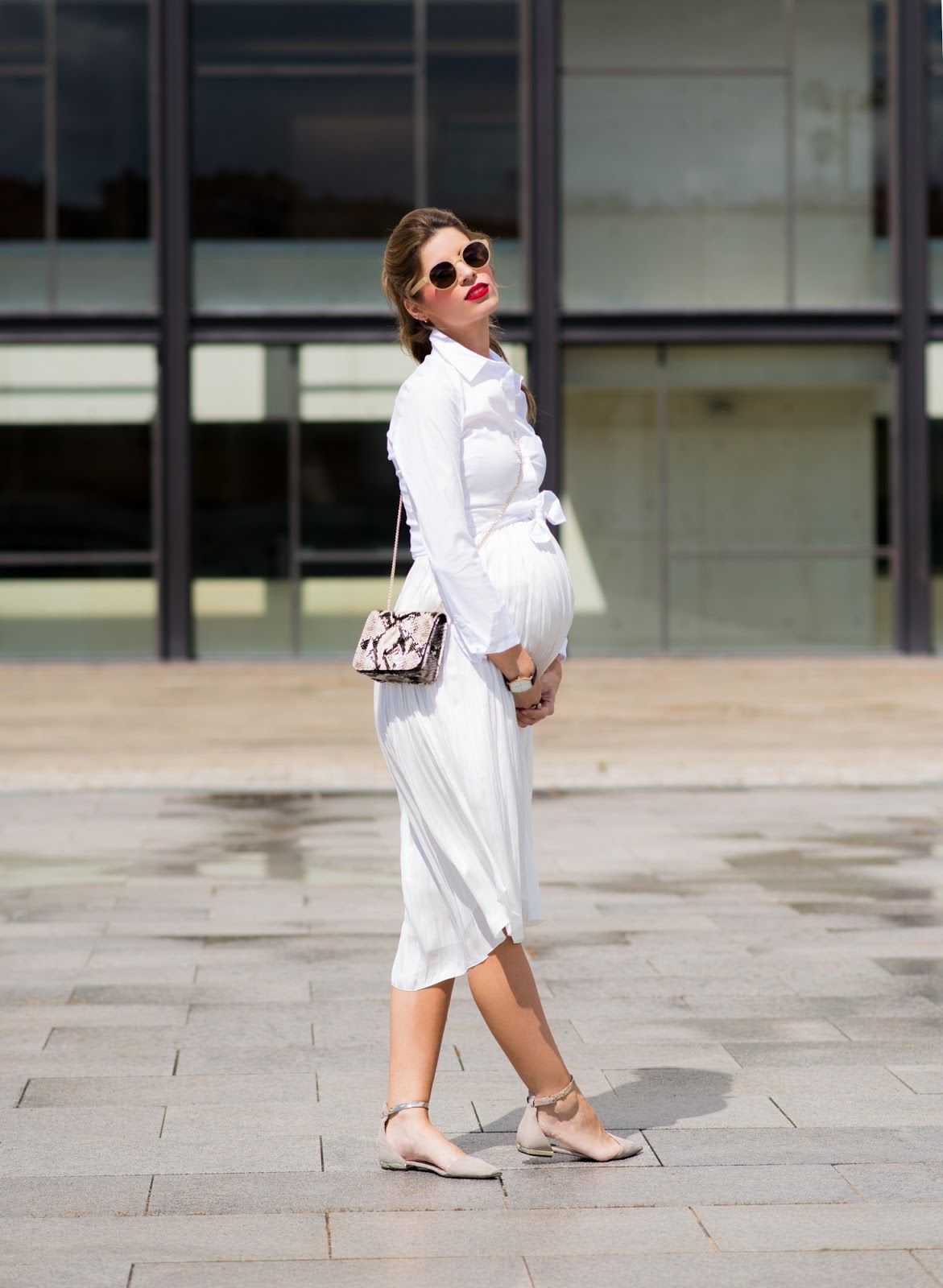 81785213d 34 WEEKS  TOTAL WHITE Ms Treinta waysify Ropa Post Embarazo