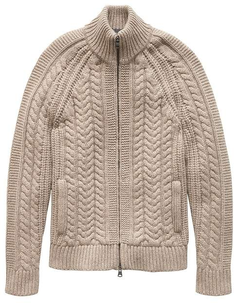 d5040195410b20 Banana Republic Cashmere Cable-Knit Sweater Jacket | Products ...