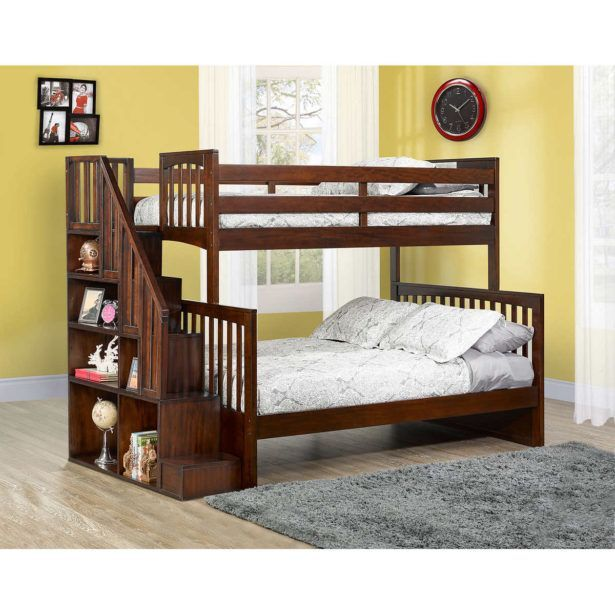 Bedroom Bunk Bed With Slide Queen Size Bunk Bed With Desk