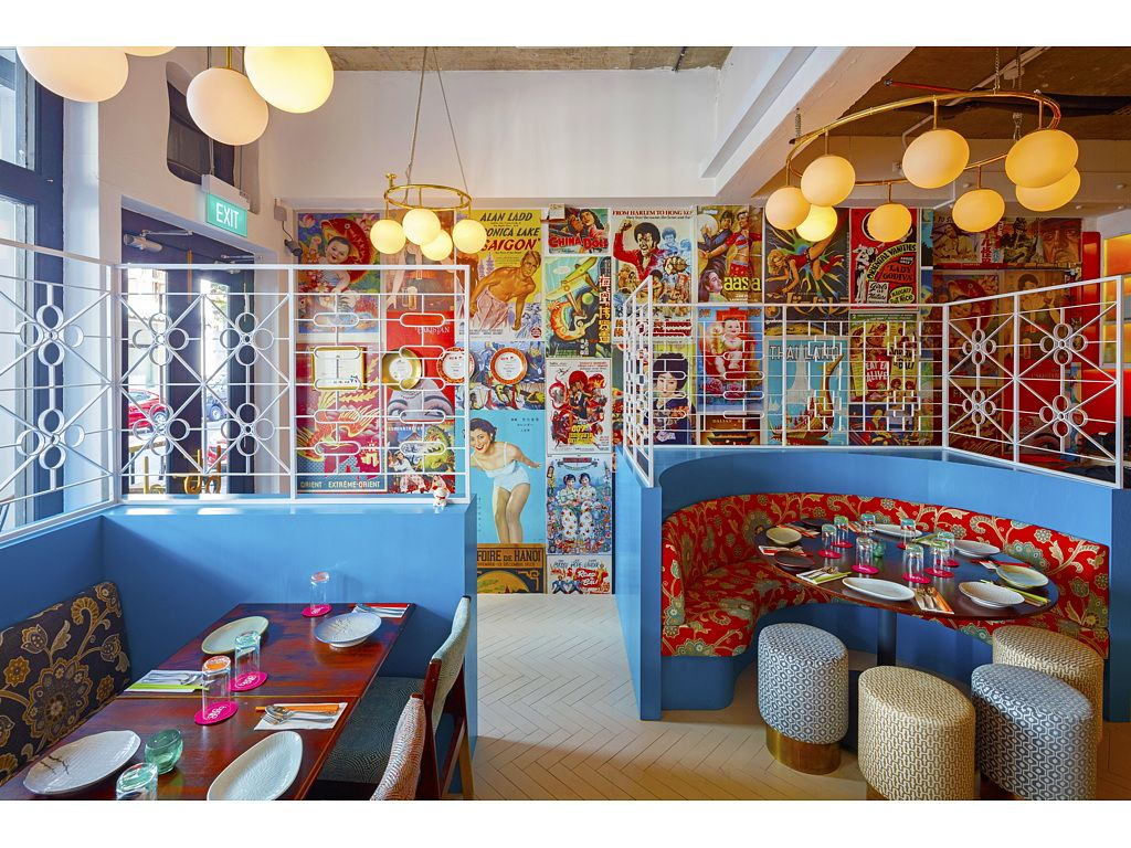 The Interior Design Of Ding Dong Restaurant Owned By The Spa Esprit Group In Singapore S Histo Singapore Architecture Colorful Furniture Sustainable Furniture