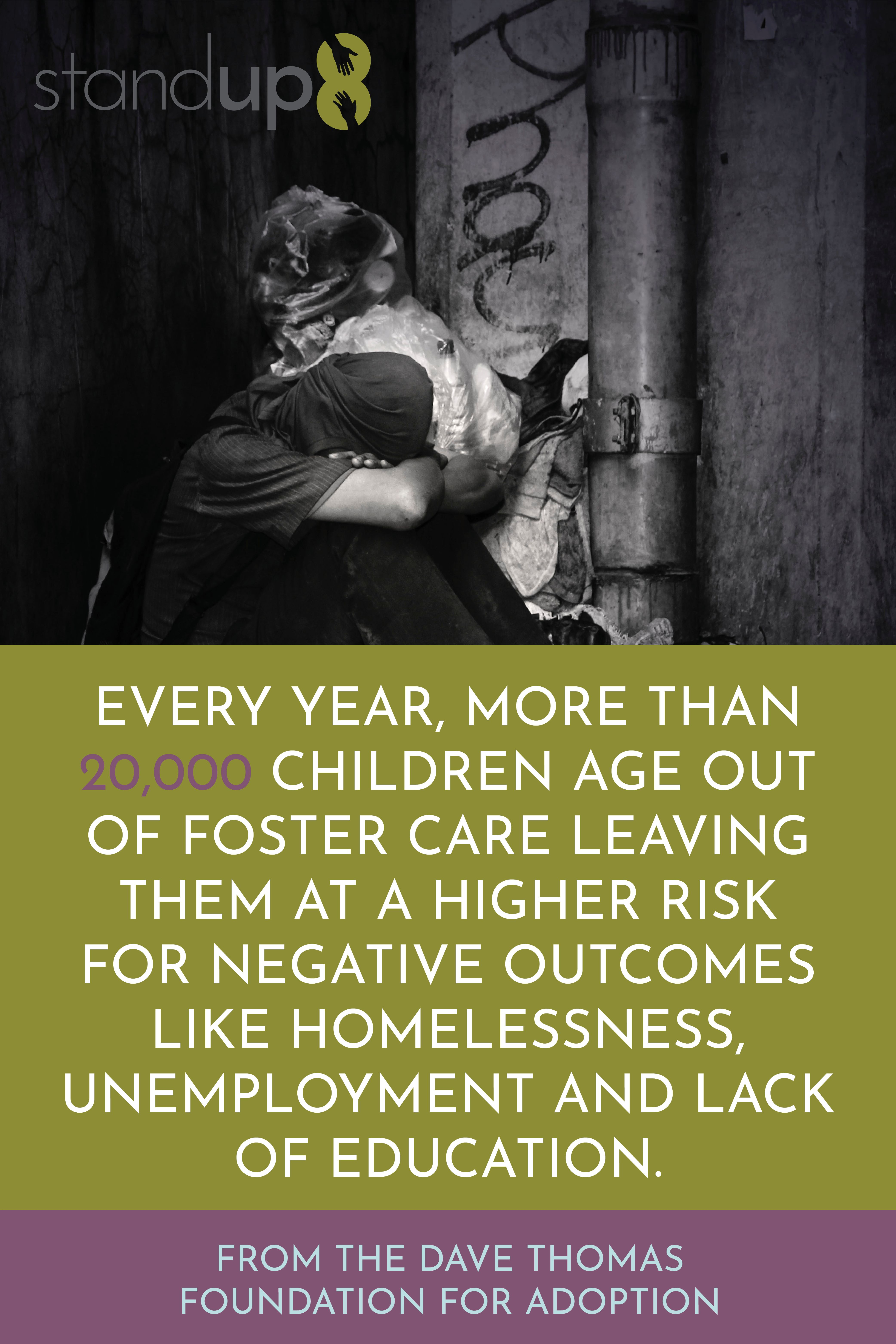 Foster care statistics stand up 8 every year more