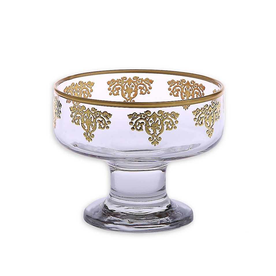 Classic Touch Dessert Bowls In Golden Set Of 6 Dessert Bowls Desserts Decorative Bowls