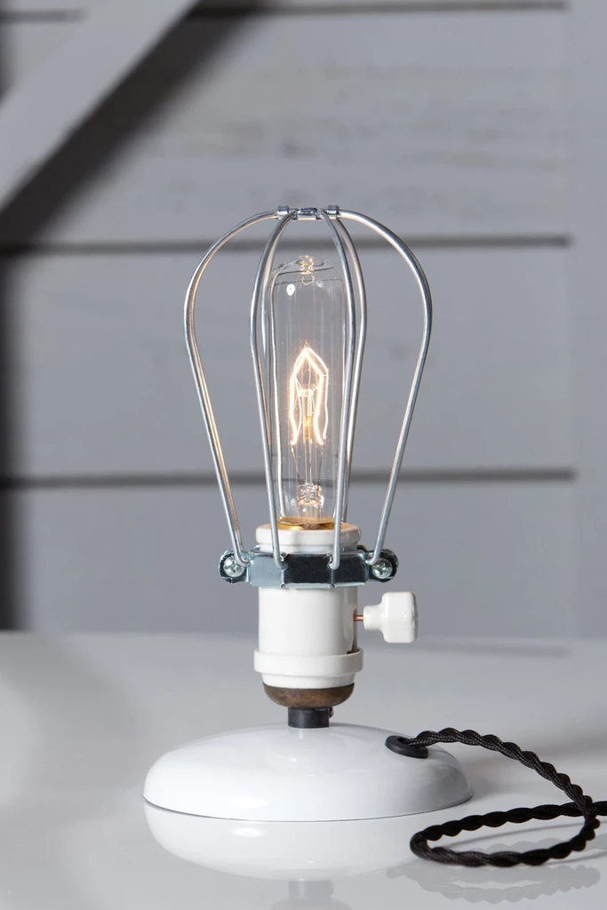 Industrial Desk Light Wire Cage Table Lamp Cage Table Lamp Desk Light Lamp