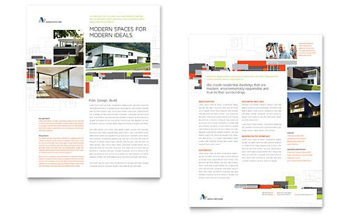 Architectural Design Datasheet Template Design  Stocklayouts