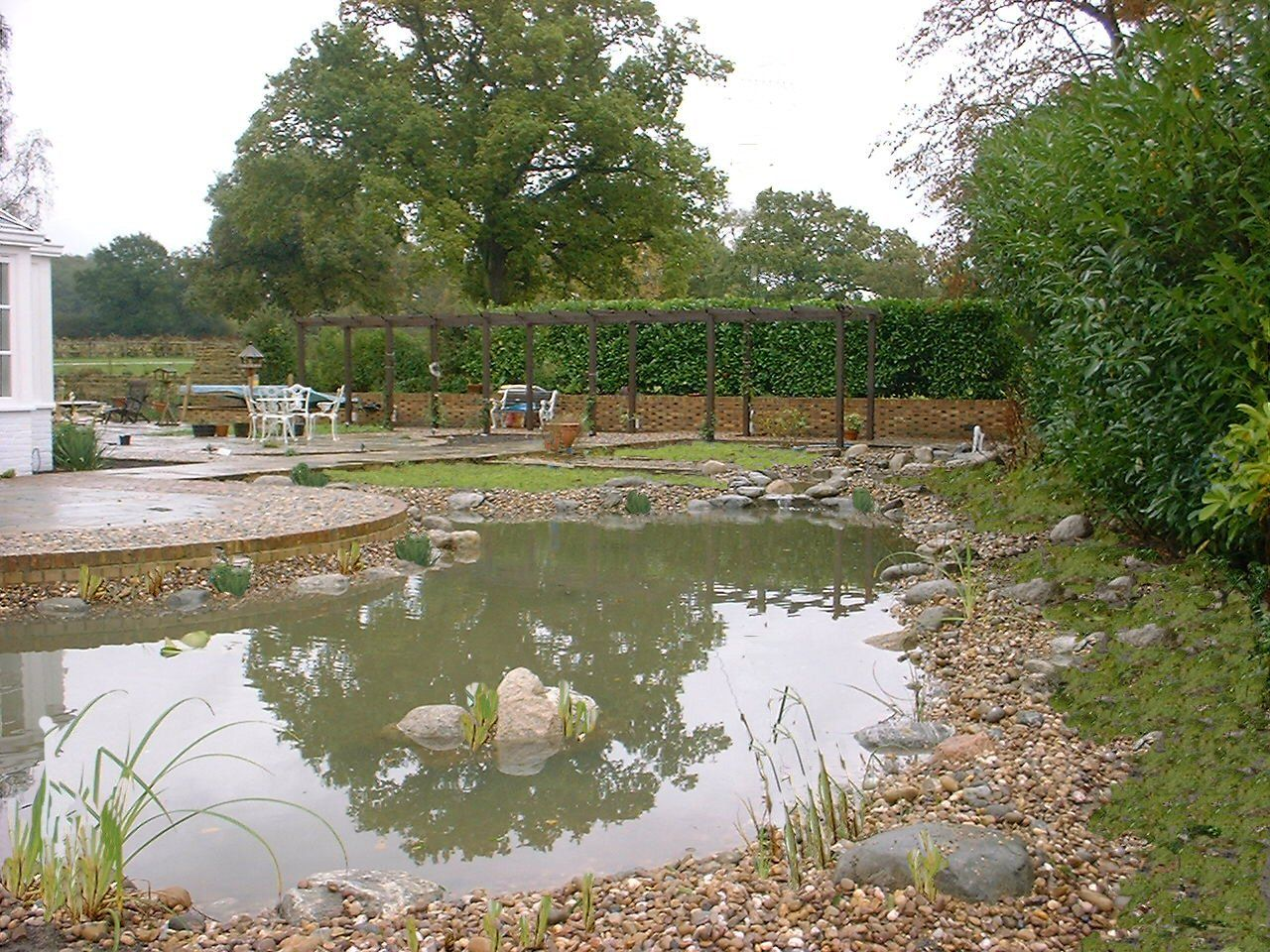 Pond edging to provide marginal planting dream home for Pond edging ideas