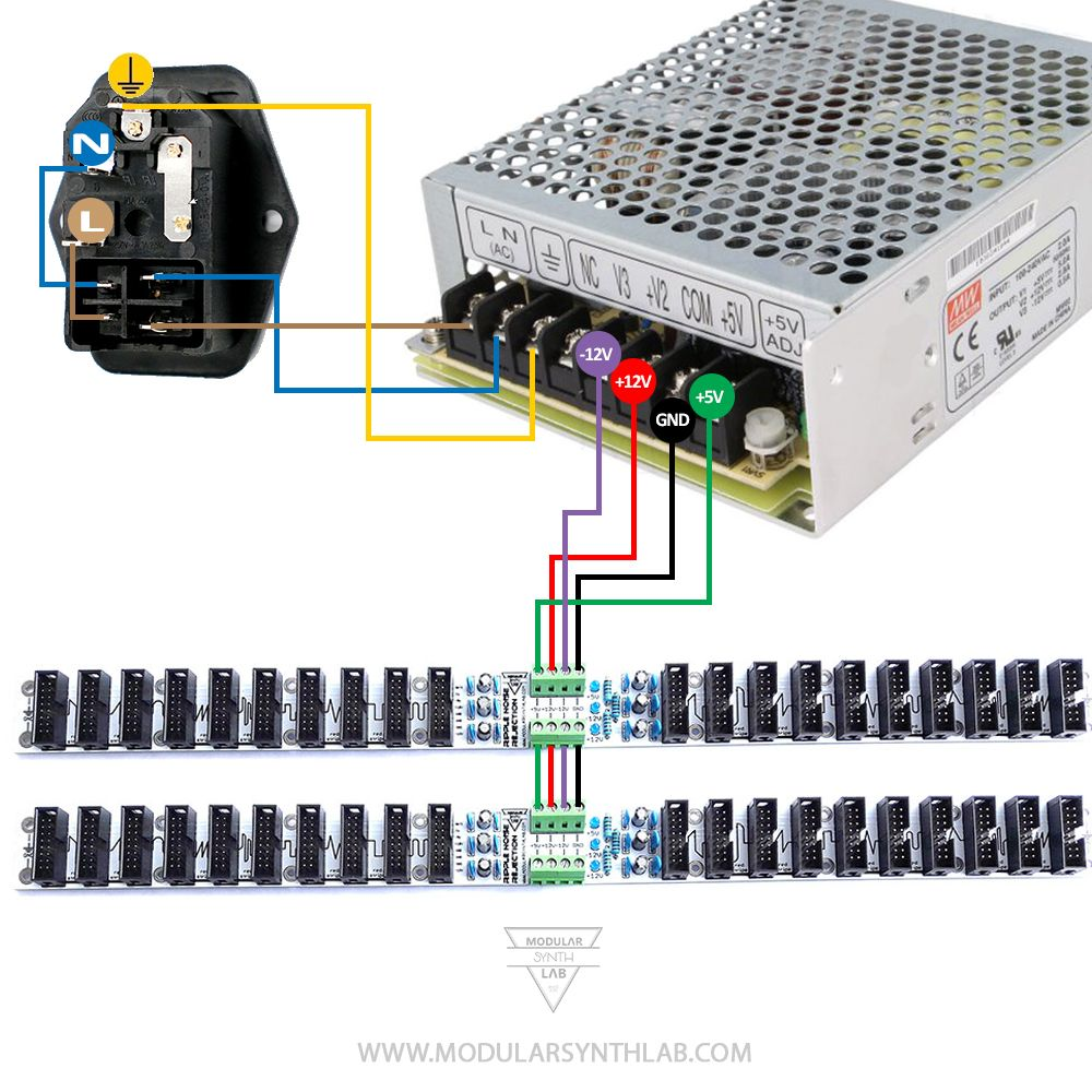 Eurorack power kit modular synth power kit diy synth case
