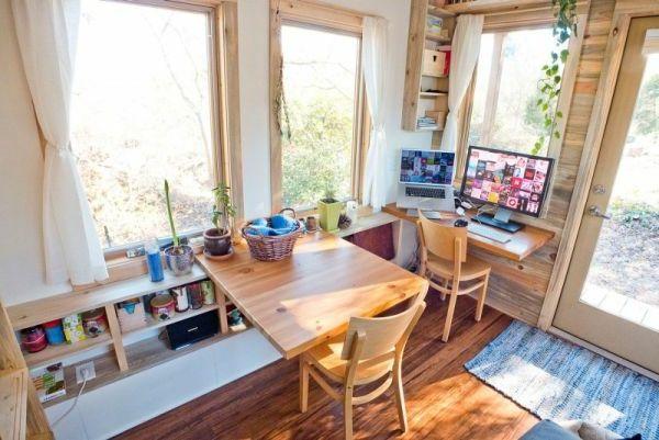 Platzsparender Esstisch Aus Holz   Neue Design Idee Für Haus Praktische  Wohnung Auf Rädern