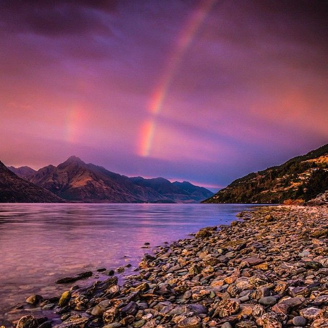 Double tap for double rainbows! #Queenstown