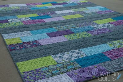 Rows of Bricks - Skip the Borders - Jaybird Quilts