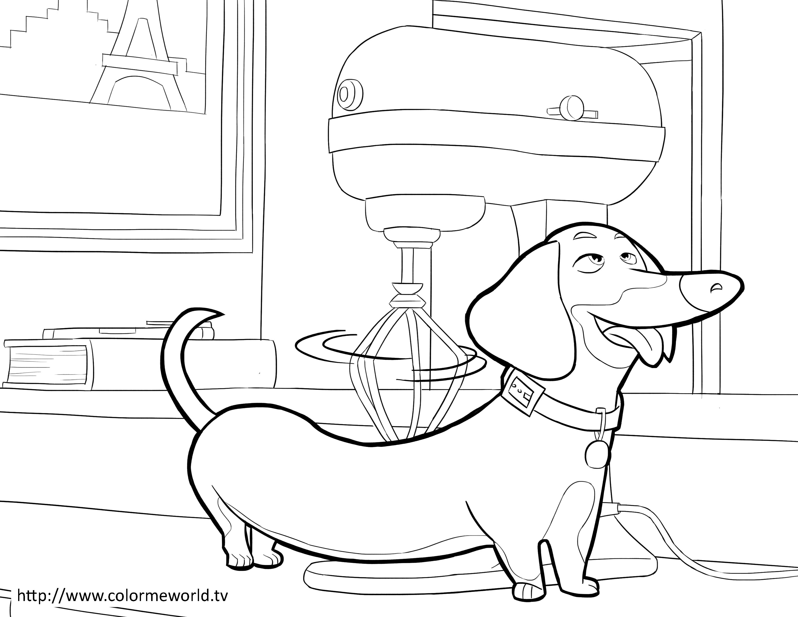 Buddy PDF Printable Coloring Page The Secret Life of