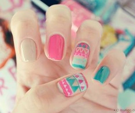 Pin by iliana atenea torres valdes on uas pinterest summer aztec nails summer spring nails diy nail art diy ideas do it yourself diy nails nail designs aztec nails solutioingenieria Gallery