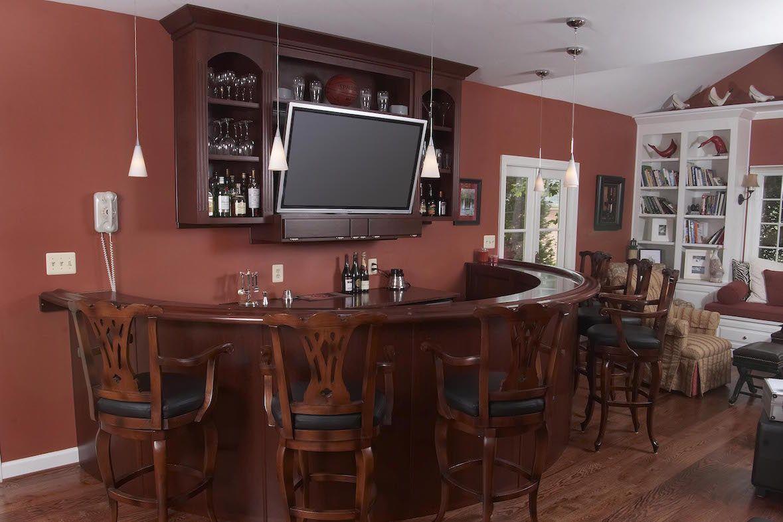 Os melhores projetos Lovable da barra da casa com disposição para projetos Home da barra