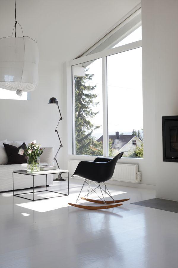Eames Molded Plastic Rocking Chair Minimalist Living Room Eames Rocker Living Room Minimalist Living