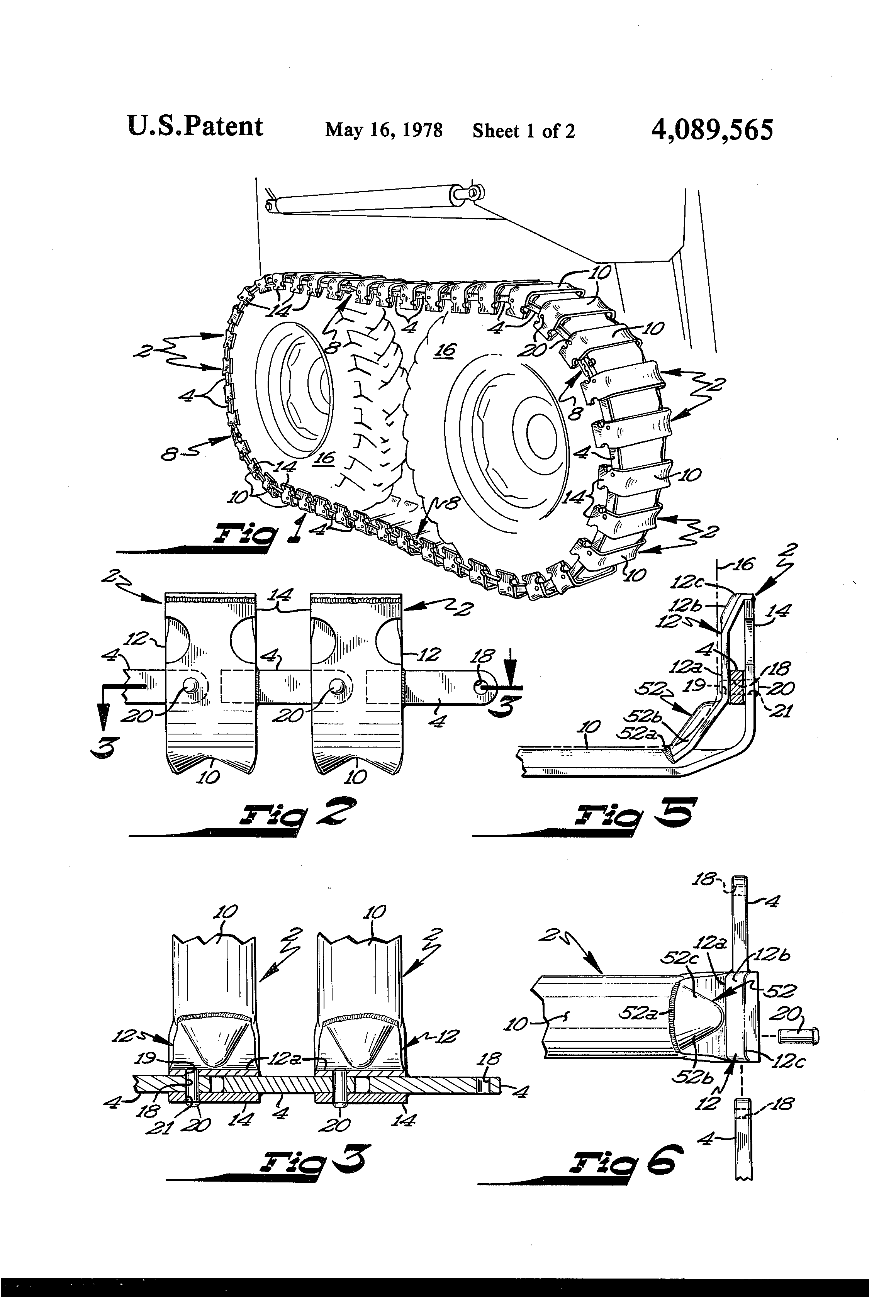 hight resolution of patent us4089565 removable track structure for wheeled vehicles google patents