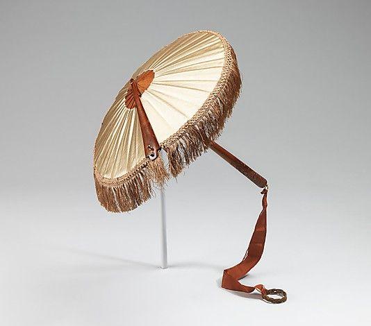 Parasol  Date: third quarter 19th century Culture: American Medium: wood, silk, metal