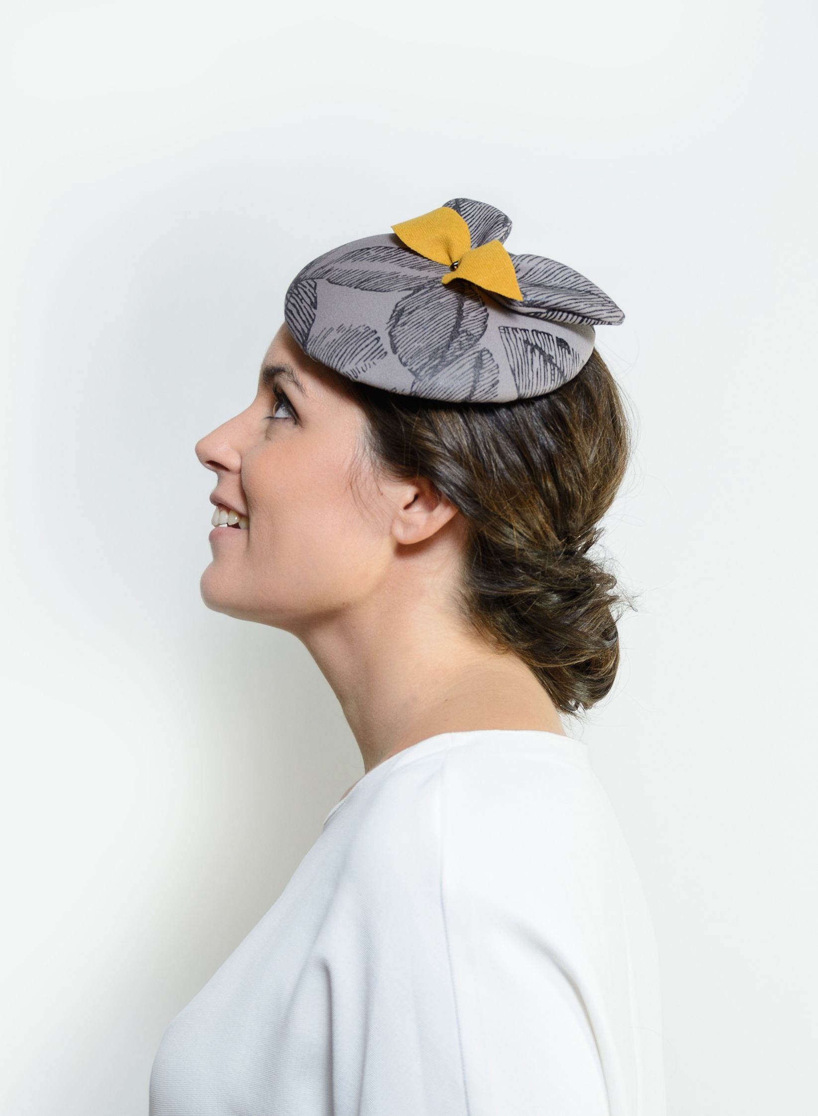 Ualan - Grey cocktail headpiece, statement hair piece, grey derby ...