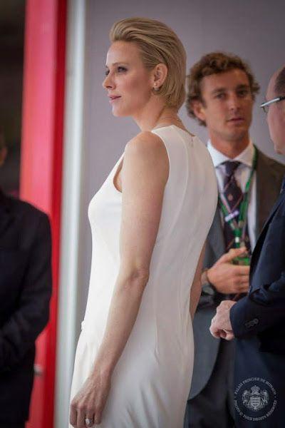Princess Charlene and Prince Albert attends the Monaco Formula One Grand Prix
