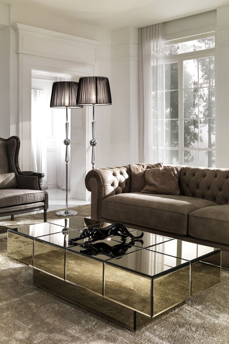 Italian Designer Bronze Glass Storage Coffee Table Center Table Living Room Centre Table Living Room Living Room Table [ 1102 x 735 Pixel ]
