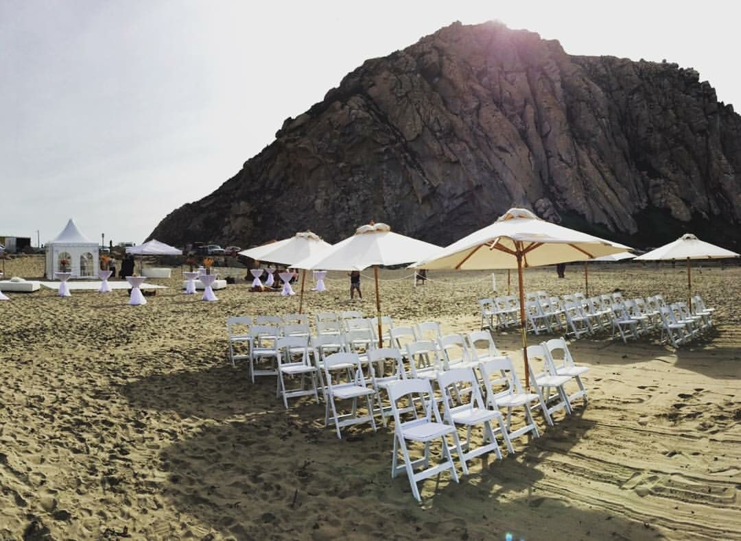 beach weddings in orange county ca%0A Beach wedding at Morro Rock Beach  Morro Bay  CA