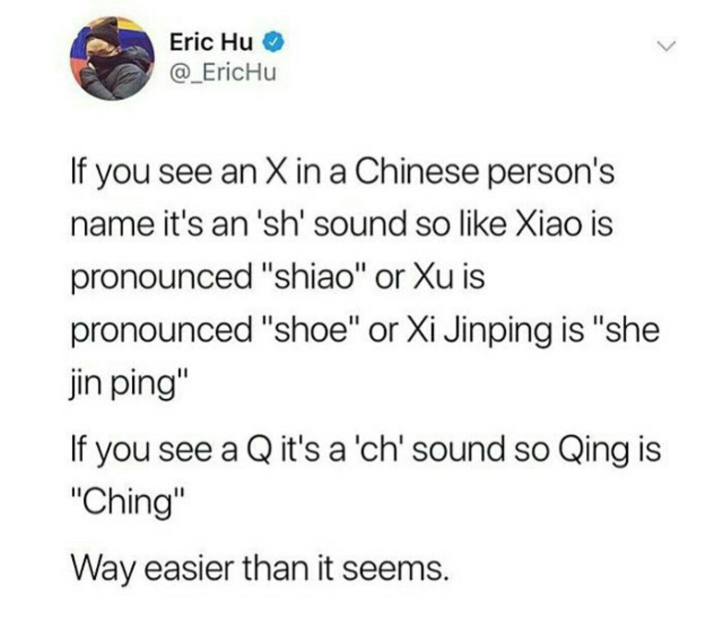 Saving Because I Was The Only Person Who Bothered To Pronounce My Chinese Friend S Name Right When I Was Younger Words Wtf Fun Facts Fun Facts