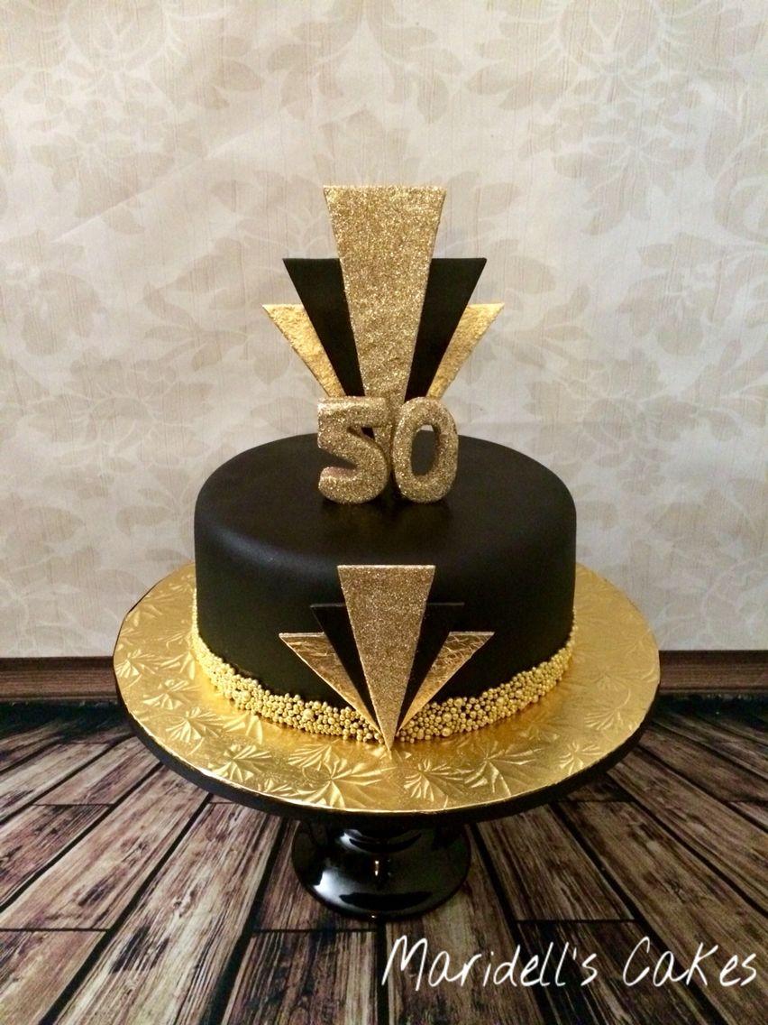 Gatsby 50th Birthday Cake Maridells Cakes Pinterest Birthday