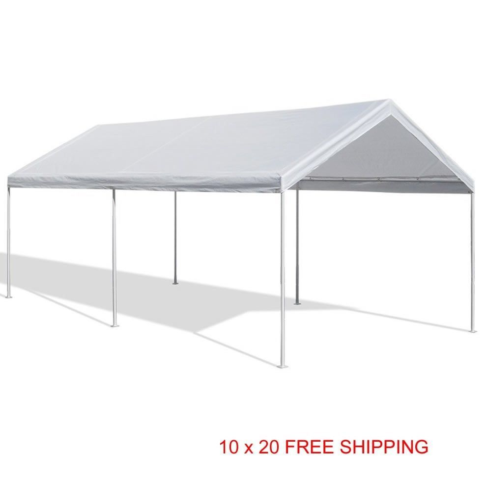Canopy Domain Carport Gazebo 10 X 20 Caravan Garage Enclosure Shelter Tent Party Carport Canopy Carport Tent Canopy Shelter