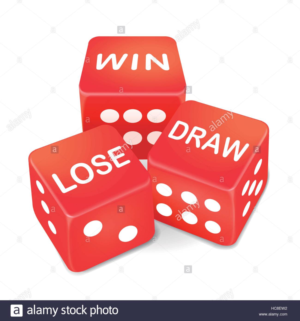 Win Lose And Draw Words On Three Red Dice Over White Background Stock Vector Image Art Alamy In 2021 White Background Stock Photos Draw