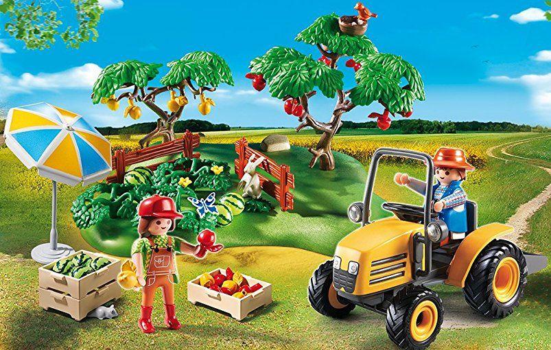 Amazon De Playmobil 6870 Starterset Obsternte Playmobil Pferde
