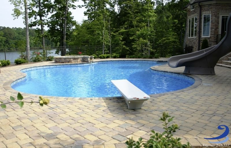 View Edgewater Pools, Vinyl Liner Pool Design Photos, Including Geometric  And Natural Shaped Designs.