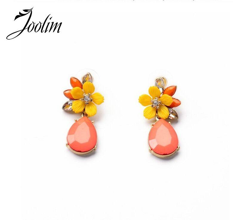 Commercio all'ingrosso dei monili joolim/orange fiore della vite prigioniera dell'orecchino di disegno dell'orecchino di fascino dell'orecchino di buona qualità
